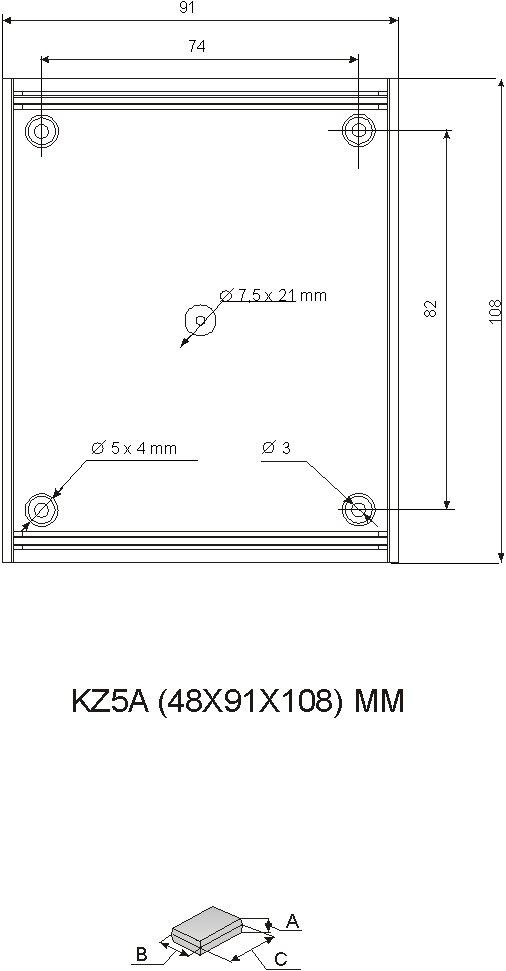 Пластиковый корпус KZ-5A (48x90x109)