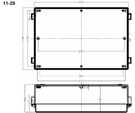 Пластиковый корпус CX15-14 (63x200x158)