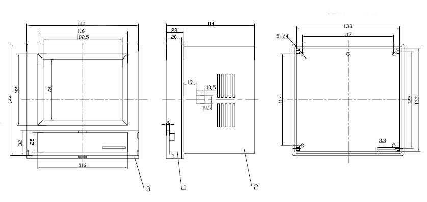 Пластиковый корпус CX1453 (114x144x144)