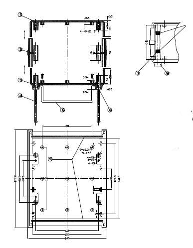 Пластиковый корпус CX15-11 (62X130X165)
