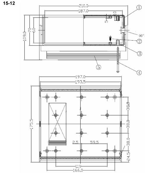 Пластиковый корпус CX15-12 (70X175X195)