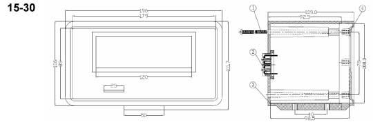 Пластиковый корпус CX15-30 (106X190X110)