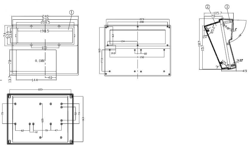 Пластиковый корпус CX18-12 (105x187x240)