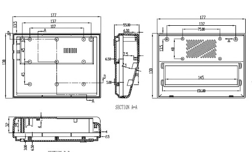 Пластиковый корпус CX18-23 (50x130x170)