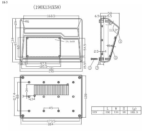 Пластиковый корпус (CX18-5 55x190x130)