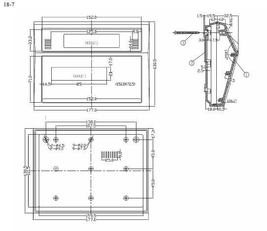Пластиковый корпус CX18-6 (50x130x170)