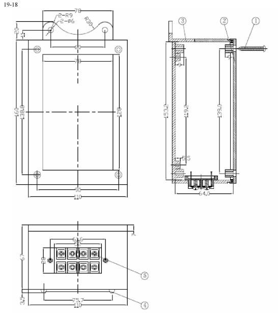Пластиковый корпус CX19-18 (68x110x160)