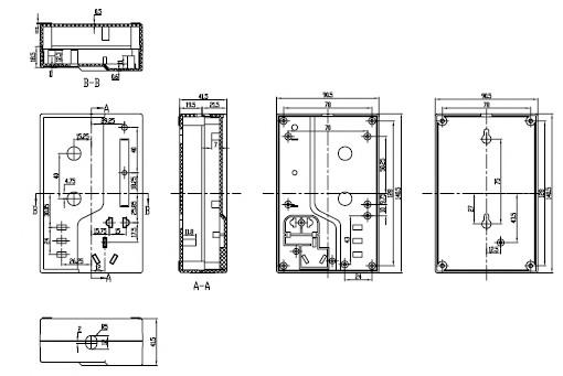 Пластиковый корпус CX19-19 (42x90x140)