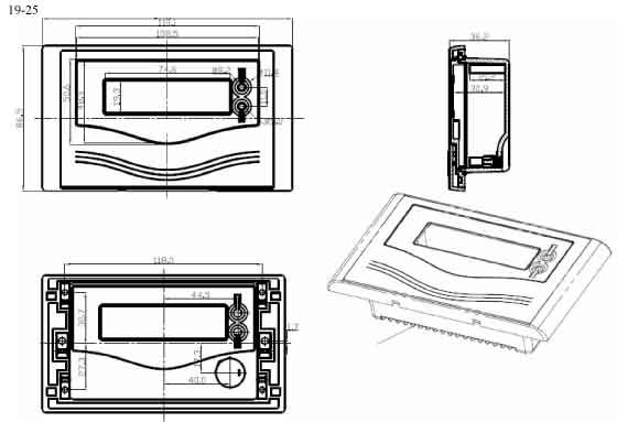 Пластиковый корпус CX19-25 (35x86x150)