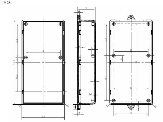 Пластиковый корпус CX19-28 (32x72x141)