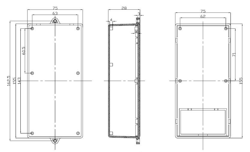 Пластиковый корпус CX19-29 (25x76x155)