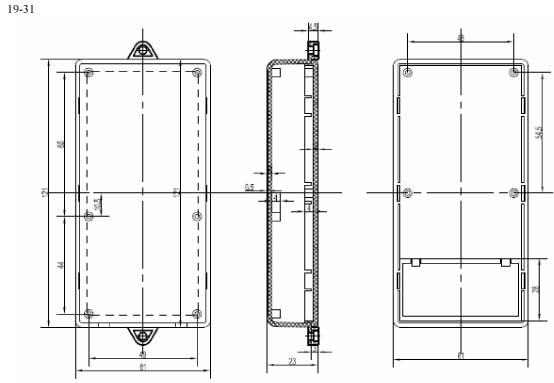Пластиковый корпус CX19-31 (23x61x121)