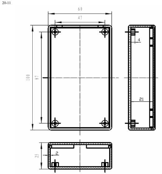 Пластиковый корпус CX20-11 (25x60x100)