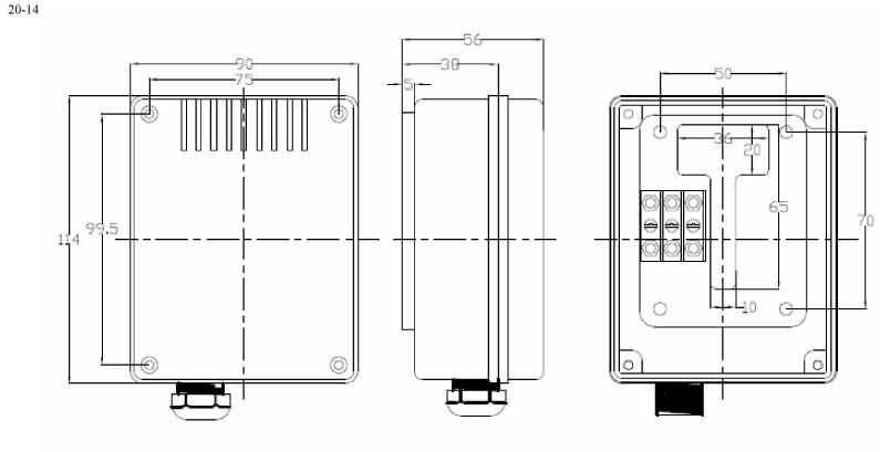 Пластиковый корпус CX20-14 (56x90x114)
