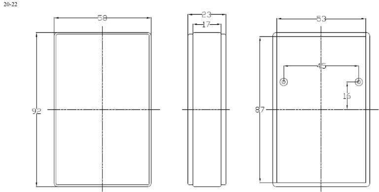 Пластиковый корпус CX20-22 (23x58x92)