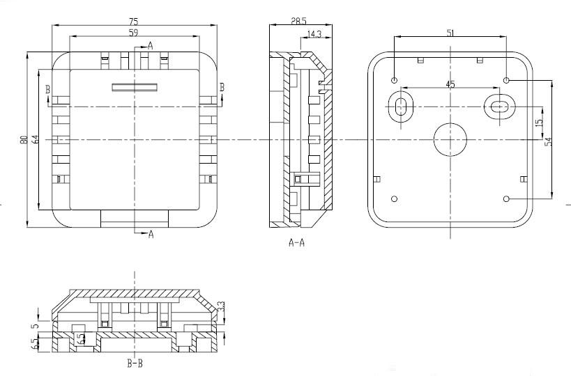 Пластиковый корпус CX20-3 (29x75x80)