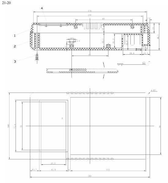 Пластиковый корпус CX21-20 (40x100x180)
