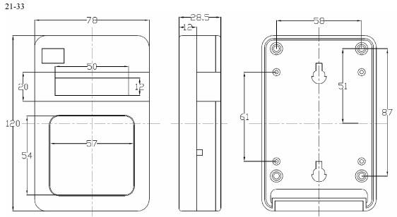 Пластиковый корпус CX21-33 (27x76x118)