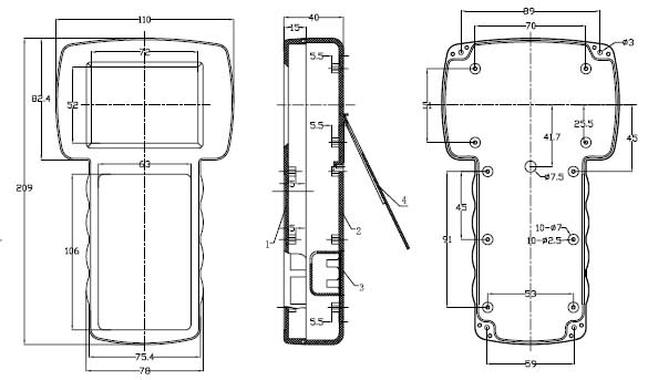 Пластиковый корпус CX21-53 (40x110x209)