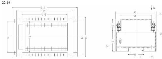 Пластиковый корпус CX22-16 (72x90x145)