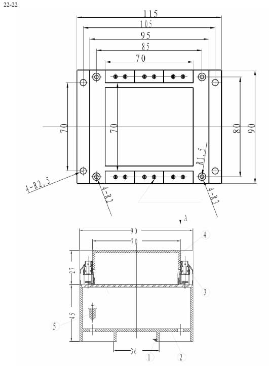 Пластиковый корпус CX22-22 (72x90x115)
