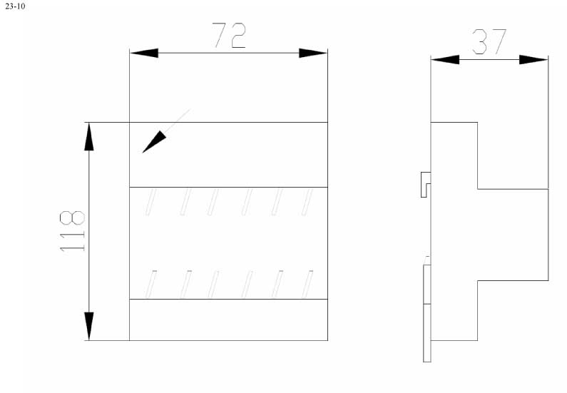 Пластиковый корпус CX23-10 (37x118x72)