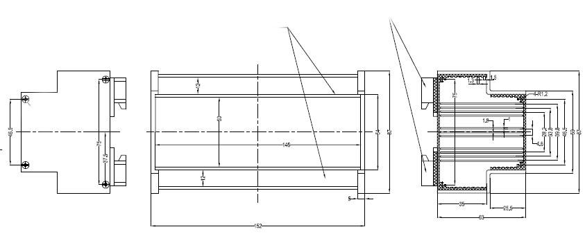 Пластиковый корпус CX23-11 (63x82x151)