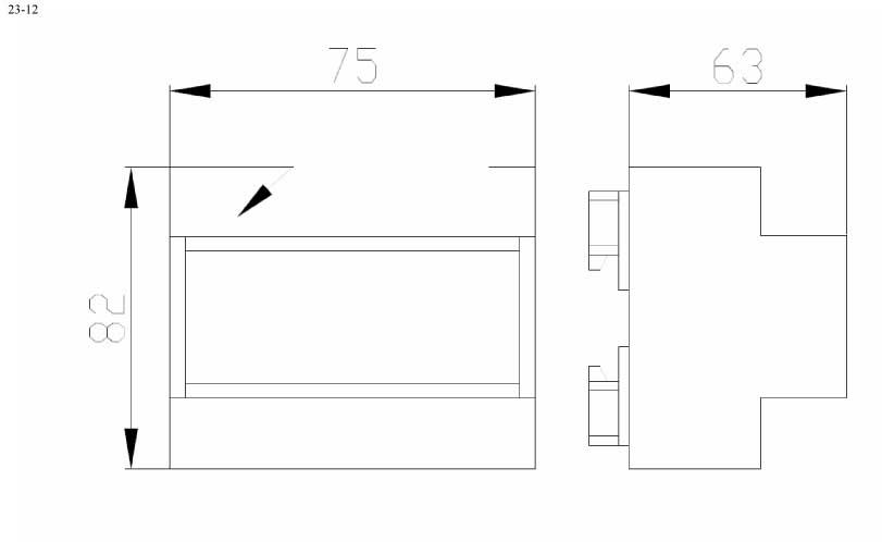 Пластиковый корпус CX23-12 (55x100x115)