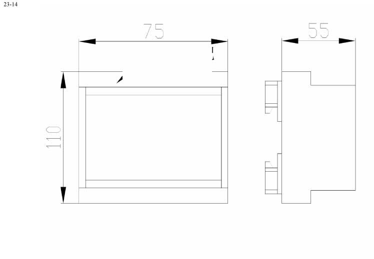 Пластиковый корпус CX23-14 (63x87x100)