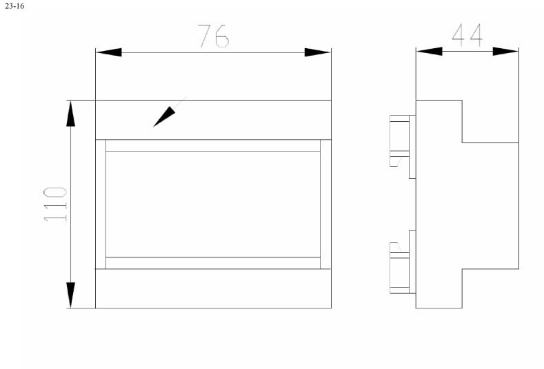 Пластиковый корпус CX23-16 (44x115x100)