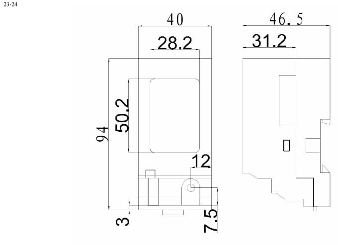 Пластиковый корпус CX23-24 (47x40x95)