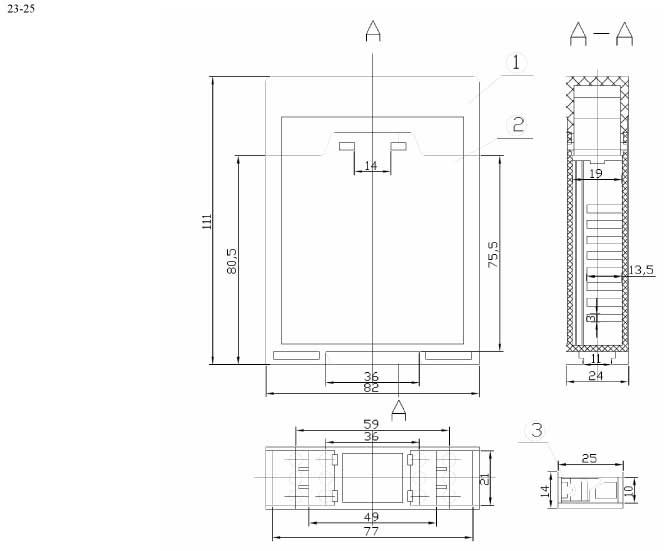 Пластиковый корпус CX23-25 (110x25x82)