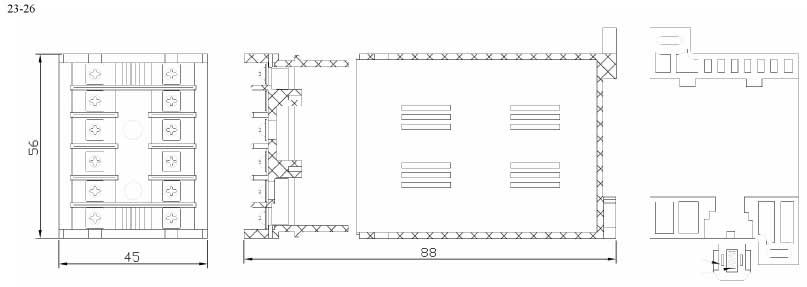 Пластиковый корпус CX23-26 (88x45x56)