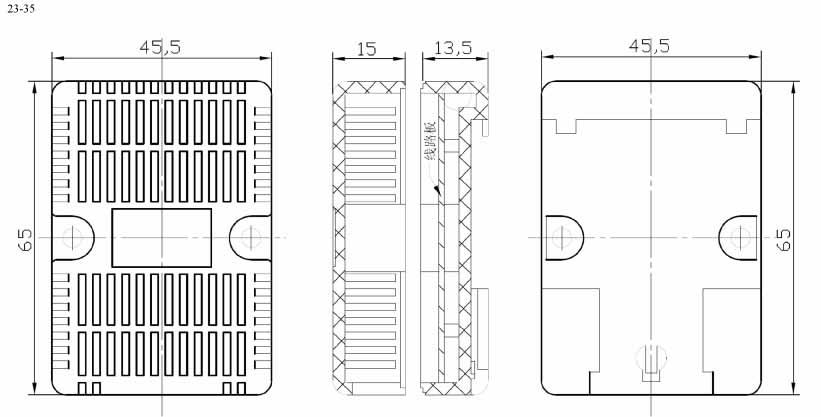 Пластиковый корпус CX23-35 (29x46x65)