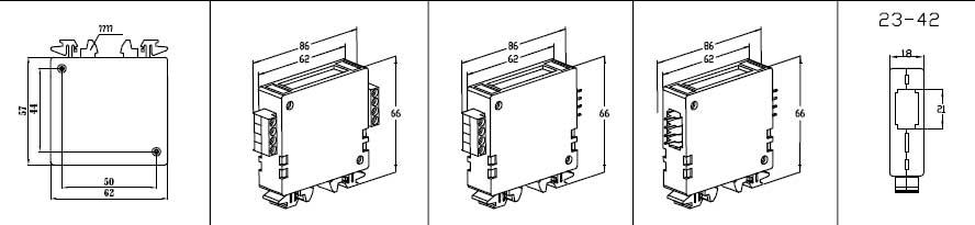 Пластиковый корпус CX23-42 (66x62x18)