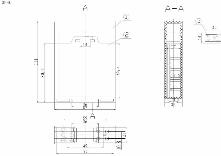 Пластиковый корпус CX23-48 (110x25x82)