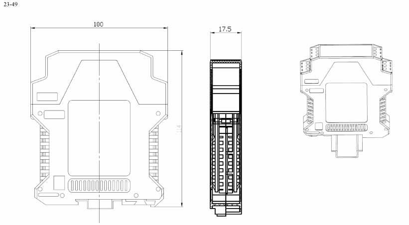 Пластиковый корпус CX23-49 (100x112x18)