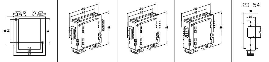 Пластиковый корпус CX23-54 (66x62x28)
