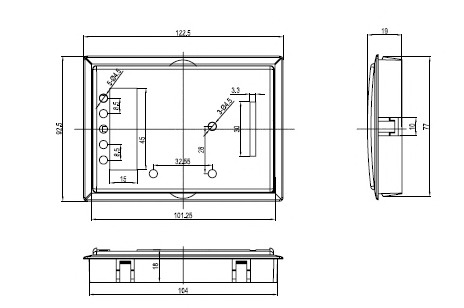 Пластиковый корпус CX26-21 (19x82x123)