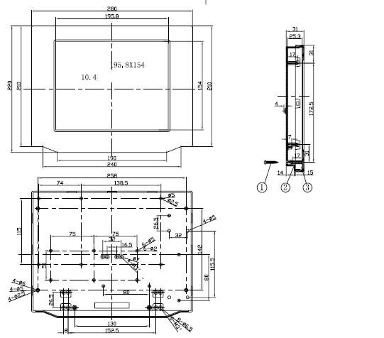 Пластиковый корпус CX27-10 (30x215x280)
