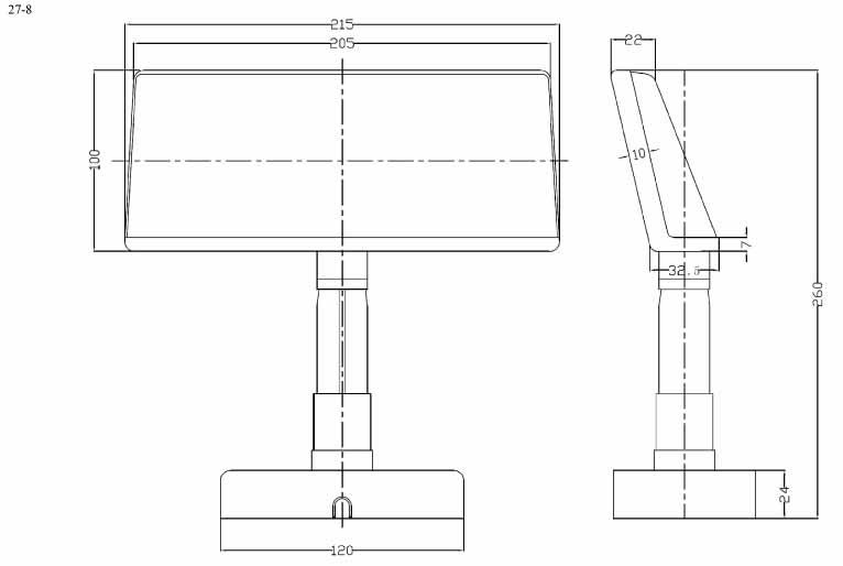Пластиковый корпус CX27-8 (215x34x255)
