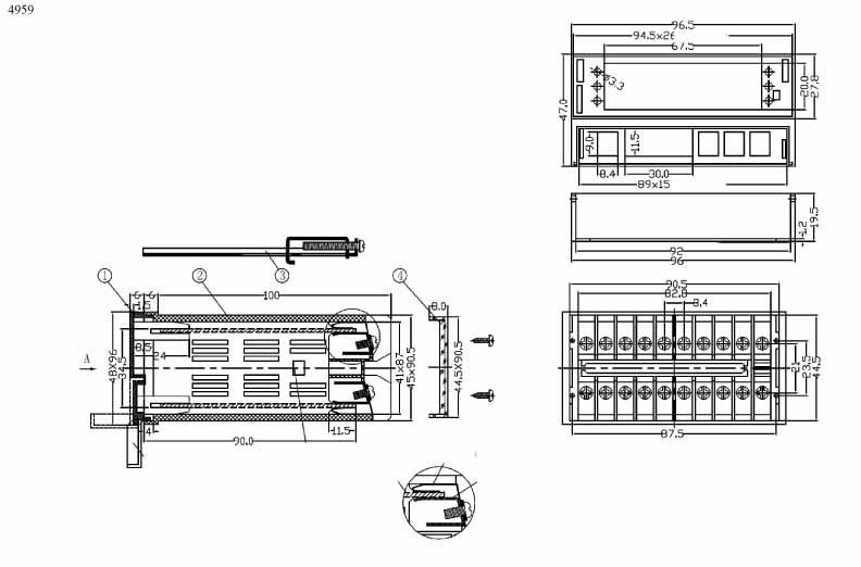 Пластиковый корпус CX4959 (48x96x115)