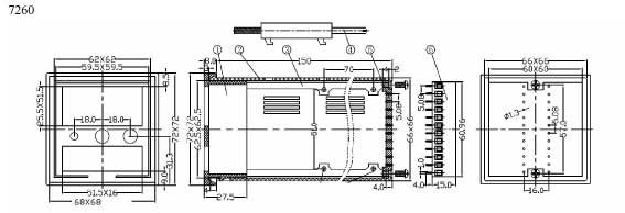 Пластиковый корпус CX7260 (72x72x158)