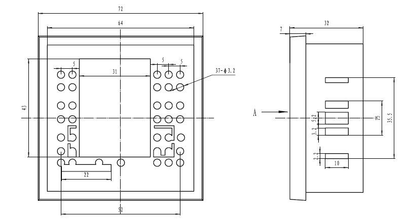 Пластиковый корпус CX7265 (72x72x28)