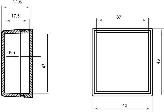 Пластиковый корпус KM04 (25x20x14)