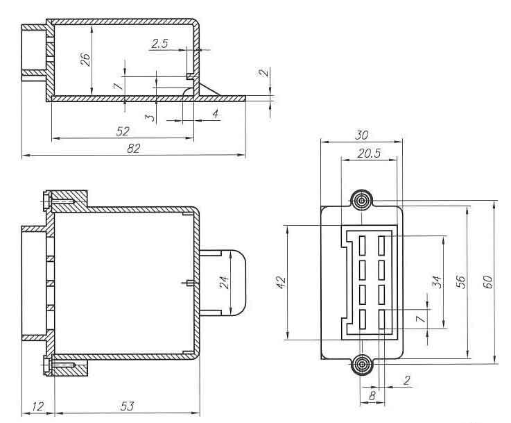 Пластиковый корпус KM18B (30x56x55)