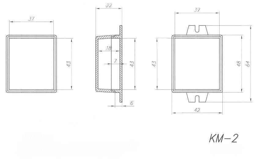 Пластиковый корпус KM2 (25x42x48)