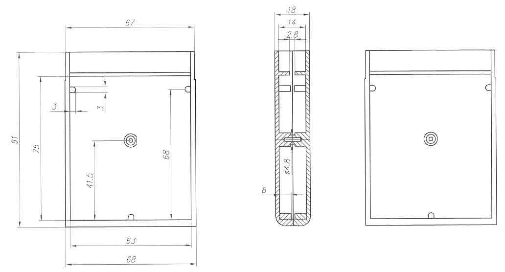 Пластиковый корпус KM20 (18x68x90)