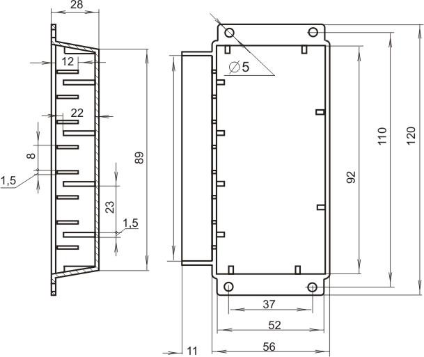 Пластиковый корпус KM28 (28x68x95)