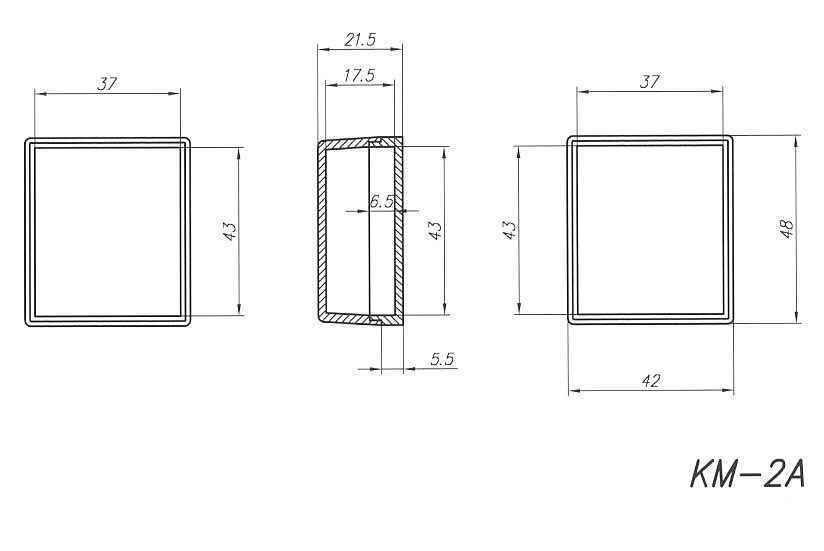 Пластиковый корпус KM2A (22x42x48)